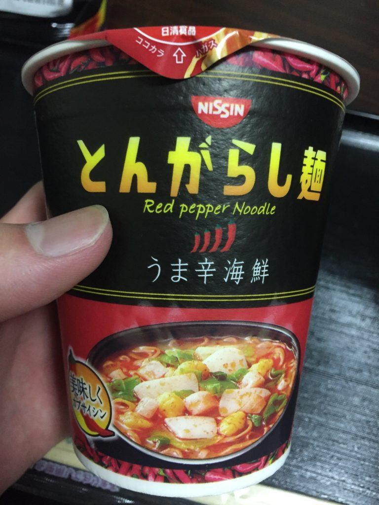 とんがらし麺 うま辛海鮮 パッケージ
